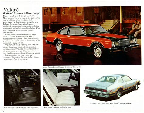 old cars and repair manuals free 1976 plymouth volare lane departure warning directory index plymouth 1976 plymouth 1976 chrysler plymouth brochure