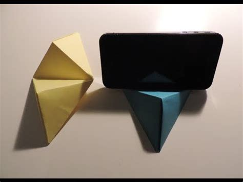 how to make a origami phone origami cell phone business card stand