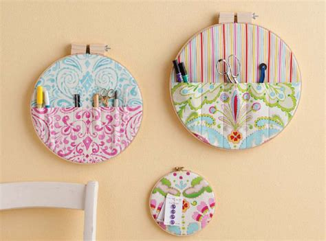 embroidery crafts projects embroidery hoop wall pocket