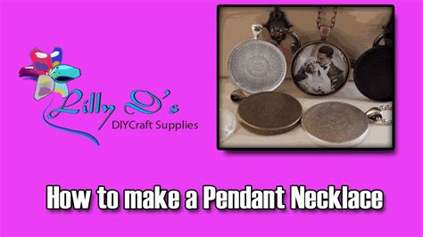 how to make cabochon jewelry pendant tray necklace tutorial with glass cabochons by