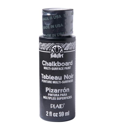 chalk paint joann folkart multisurface chalkboard paint 2oz black jo