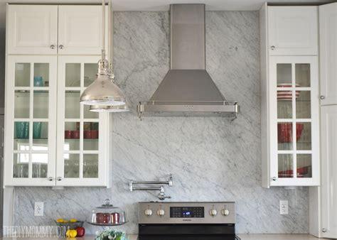 marble tile backsplash kitchen a marble panel backsplash for our diy kitchen