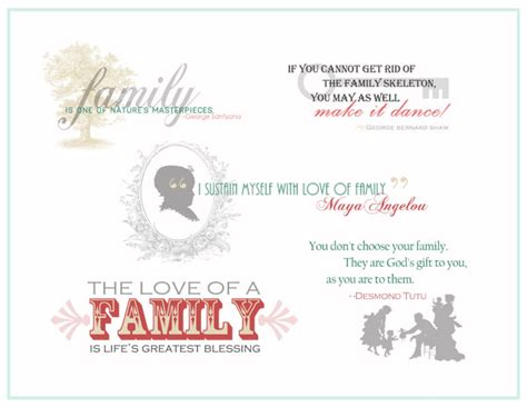 family quotes and word art for your scrapbook layouts