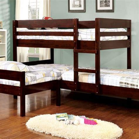 espresso bunk beds corner bunk bed in espresso