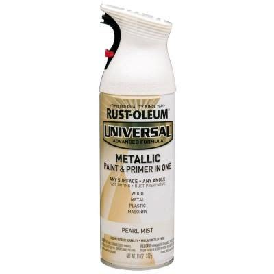 home depot spray paint and primer rust oleum universal 11 oz all surface metallic pearl