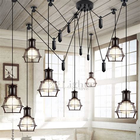 industrial style lighting for a kitchen 10 light country style industrial kitchen lighting pendants