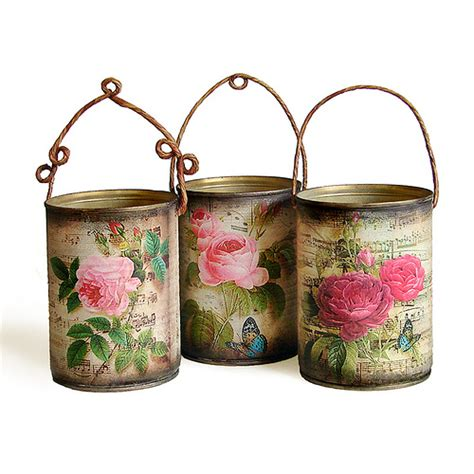 decoupage tin decorative tins made by napkin decoupage flickr photo