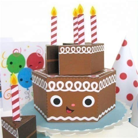 paper birthday cake craft happy birthday chocolate cake playset printable