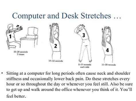 computer and desk stretches simple health tips
