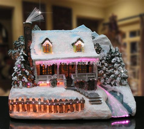 fiber optic houses snow bakery fiber optic led light house
