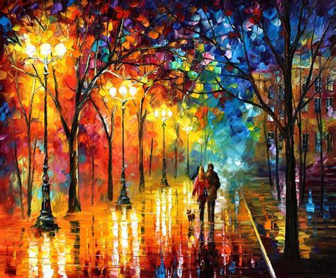 paint nite canvas size happiness painting on canvas by leonid afremov