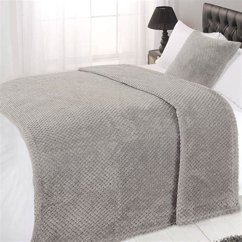 bed blankets luxury large waffle honeycomb mink warm thick throw
