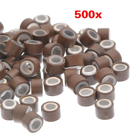 silicone lined micro 500 pcs 5mm silicone lined micro ring links for hair