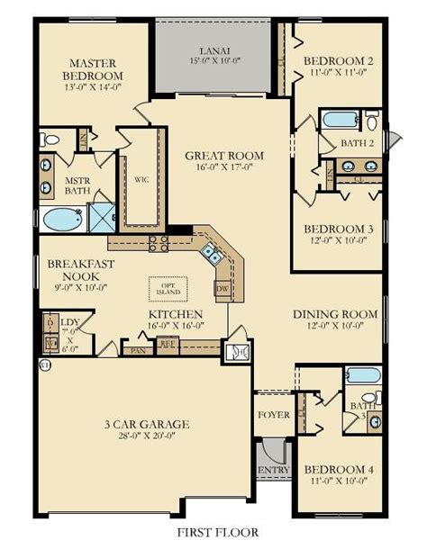 lennar homes floor plans florida tivoli new home plan in gran paradiso manor homes by lennar