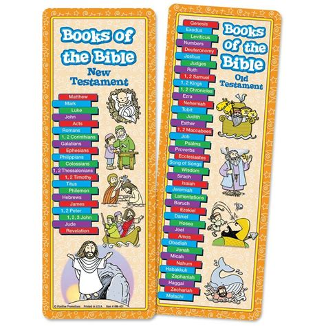 books of the bible pictures books of the bible bookmark positive promotions