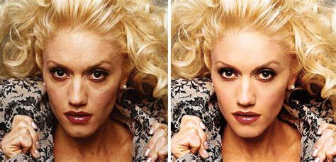 gwen stefani photoshopped eveyone looks better with