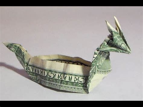 dollar origami boat fold money sailboat origami 1 one dollar bill tutori