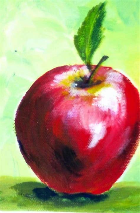 acrylic painting apple back to basics painting an apple acrylic painting
