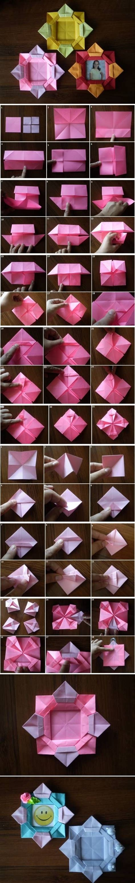 picture frame origami diy origami flower picture frame pictures photos and