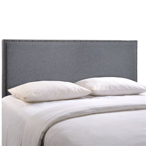 nailhead headboard region size nailhead upholstered headboard ebay