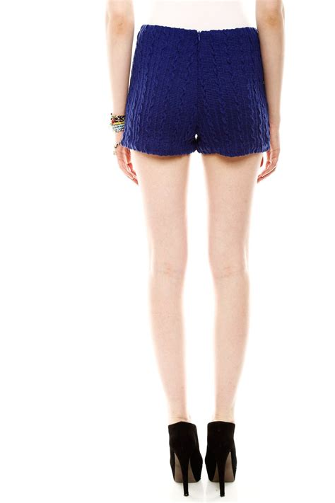 cable knit shorts ark co cable knit shorts from branford by polished