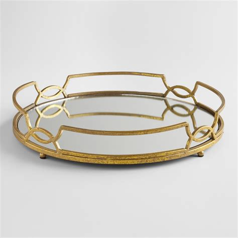 Home Decor Stores Perth gold mirrored tabletop tray world market
