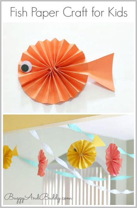 paper craft fish fish paper craft for