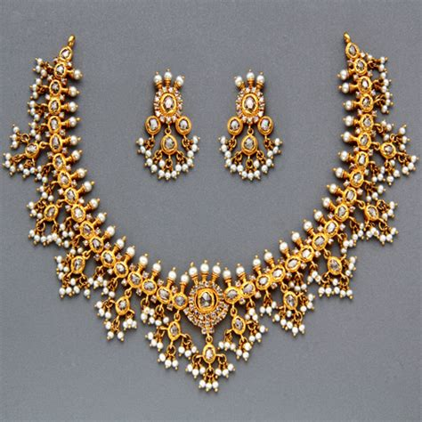 pearl uk indian jewellery and clothing polki necklace sets from