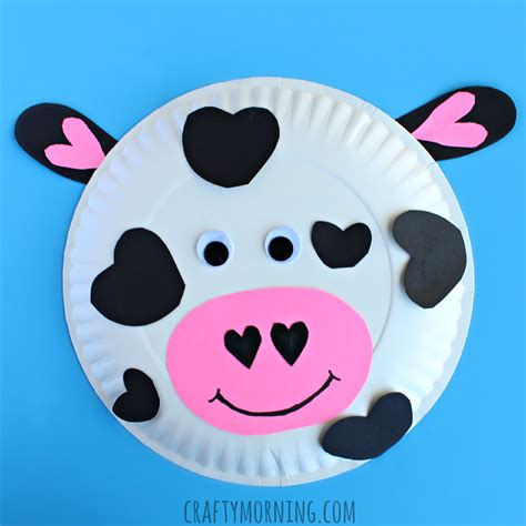 paper plate craft for toddlers paper plate cow craft for crafty morning