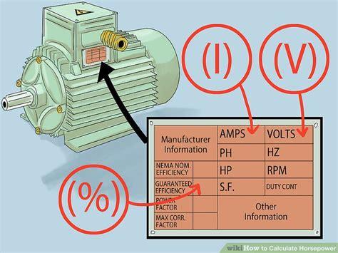 Electric Motor Horsepower by Electric Motor Horsepower Calculator Impremedia Net