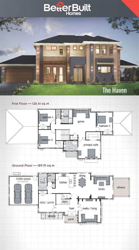 two storey house design and floor plan best 25 storey house plans ideas on