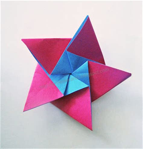 five pointed origami cards and papercrafting five pointed origami