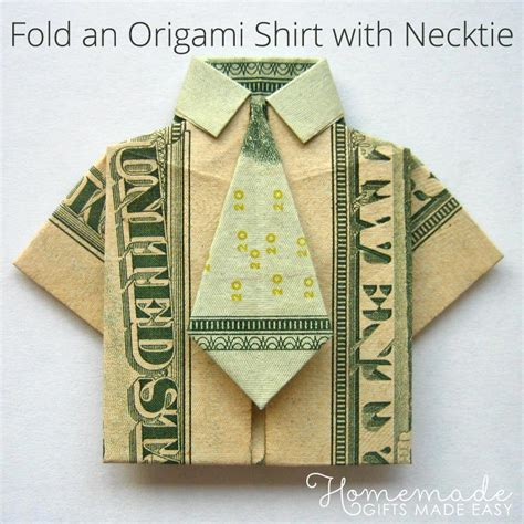 how to make an origami out of money money origami shirt and tie folding