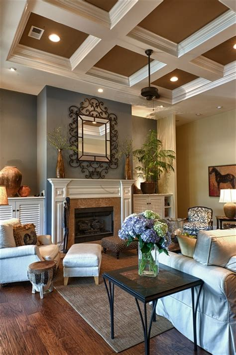 paint colors for living room with wood ceiling great blue brown living room in set of 168 house photos