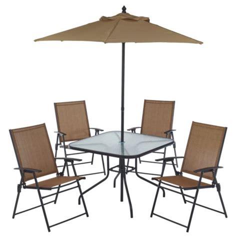 4 patio set with umbrella mosaic 6 folding patio set academy