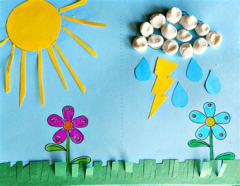 weather craft for w is for weather preschool lesson craft with science