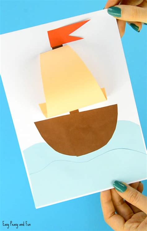 craft paper boat simple paper boat craft easy peasy and