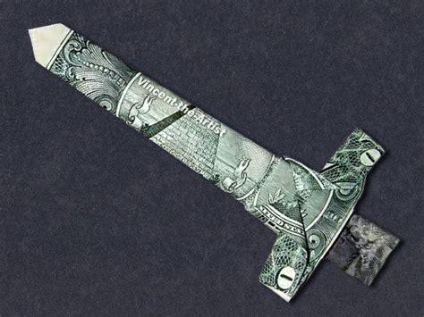 origami sword dollar origami sword money dollar origami