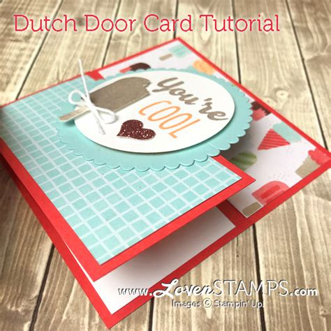 card tutorials on folds tutorial door card with cool treats