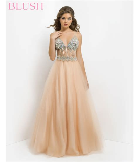 Pink Retro Kitchen Collection pink by blush 2014 prom dresses champagne beaded open