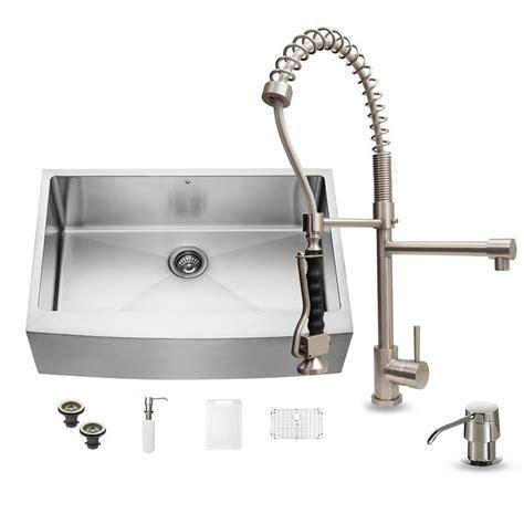 kitchen sink kit shop vigo 33 in x 22 25 in stainless steel single basin