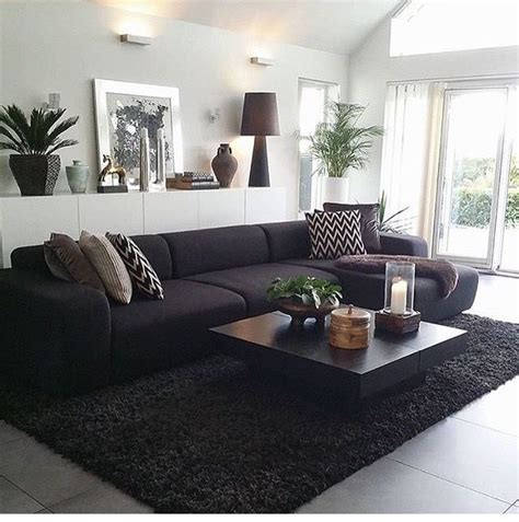 living room design with black leather sofa best 25 living room sofa ideas on small