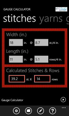 knitting gage calculator knitting conversion calculator free knitting projects