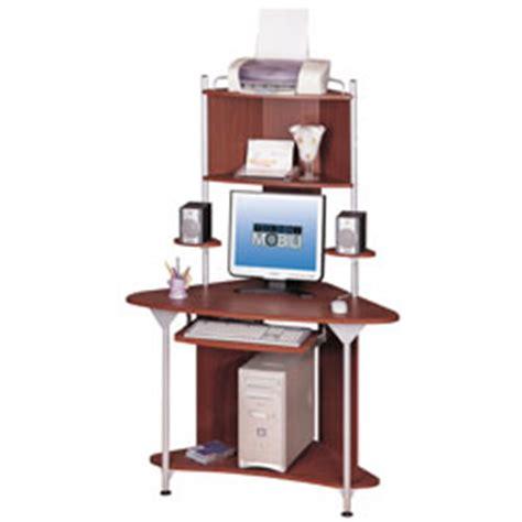corner desk tower techni mobili corner tower computer desk 64 h x 25 d x 45