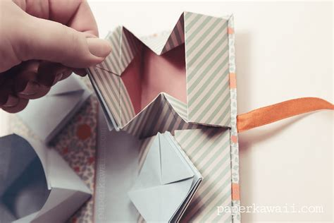 origami paper book origami thread book tutorial paper kawaii