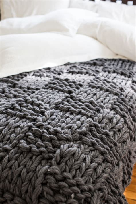 how to arm knit blanket chunky arm knit blanket pattern flax twine