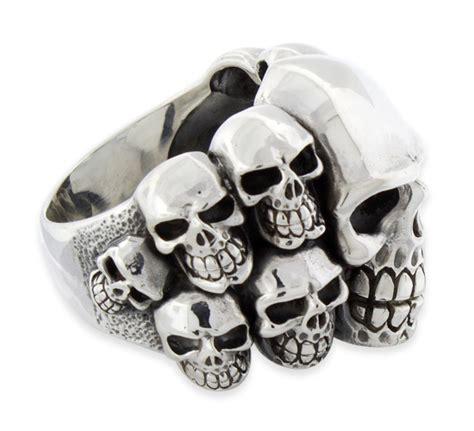 sterling silver skull sterling silver skull ring