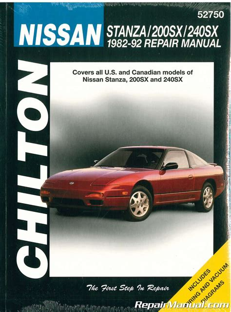 free service manuals online 1992 nissan 240sx electronic toll collection chilton nissan stanza 200sx 240sx 1982 1992 repair manual