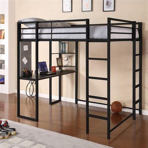 black loft bed dhp abode size metal loft bed black