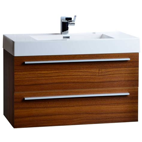 teak bathroom vanities 35 5 quot wall mount contemporary bathroom vanity teak tn m900